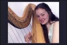 Harpist Katharine Saxton