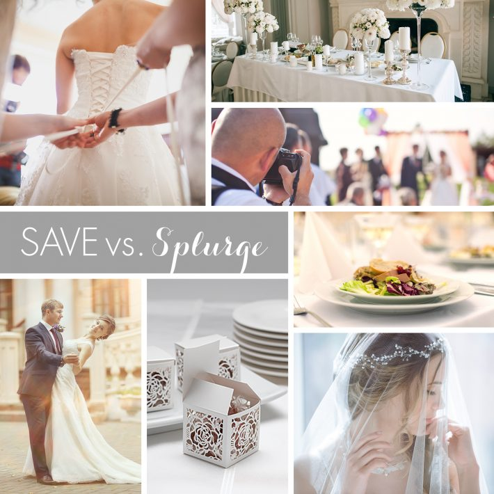Wedding Budget:  Save vs. Splurge