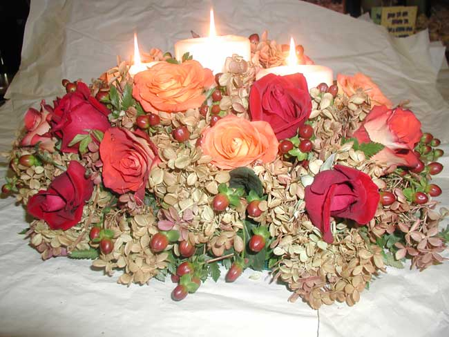 Brides helping ™ bouquets centerpieces with