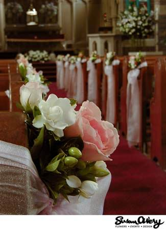 Church Pew Decorations - Long Island Weddings