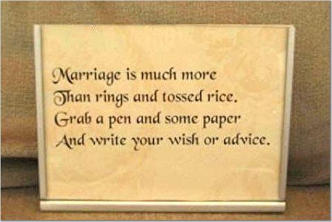 Brides Helping Brides Guest Book Wish Bowl Poem Liweddings
