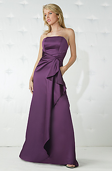 Purple Bridesmaid Dress on Yet I M Thinking Something Maybe Knee Length    And Then Simple