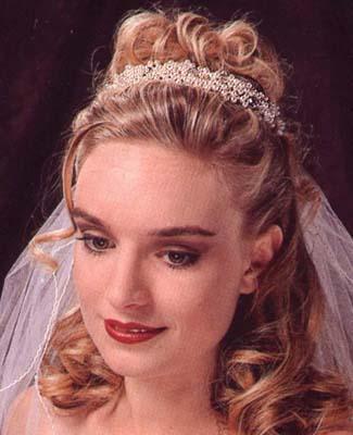 bridal hairstyles half up half down. labeled, Bridal