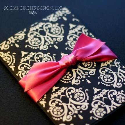 Re pink and black wedding ideas maybe she could do black and white damask