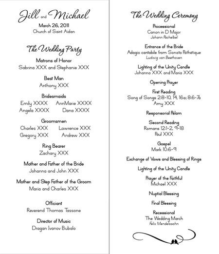 Brides Helping Brides Church Program LIWeddings