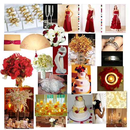 Black red and gold wedding theme the for Red gold wedding ideas