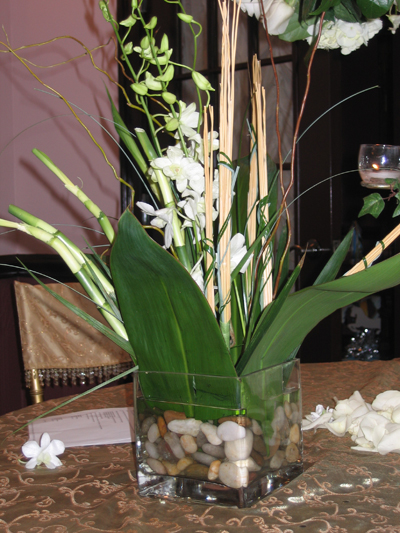 Chebrias blog paint them to match your wedding color scheme and wedding centerpieces wtih bamboo junglespirit Choice Image