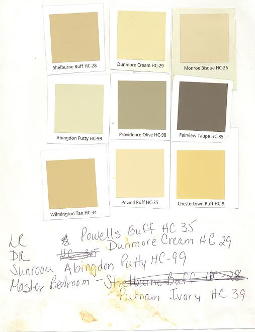 THese Are All Benjamin Moore Historic Collection. We Used Dunmore Cream For  Our Kitchen/dining Room. Part 23