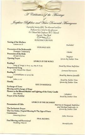catholic wedding mass program
