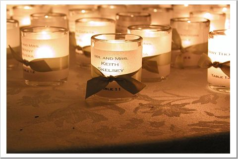 Brides Helping Brides ™ - votive candle holder place cards | LIWeddings