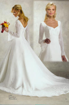 Re Does Anyone NOT Have A Strapless Wedding Gown My Dress Has Long Bell Sleeves