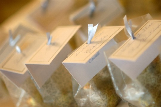 We Had A Few Favorsone Of Them Was Lindt Truffles Inside Vellum Bags With The Place Card Attachedthey Were Huge Hit