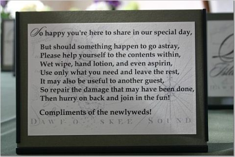 Re  Does anyone have a poem for the Ladies Bathroom Basket. Brides Helping Brides     Does anyone have a poem for the Ladies