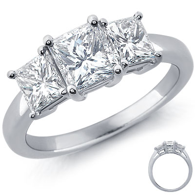 re girls with 3 stone engagement rings