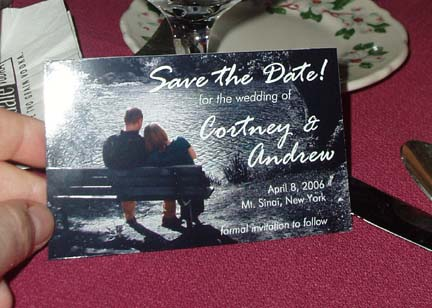 Brides helping brides diy save the dates liweddings them out on photo paper cut them down to size then bought those business card size magnets that are sticky on one side and stuck them to ith reheart Gallery