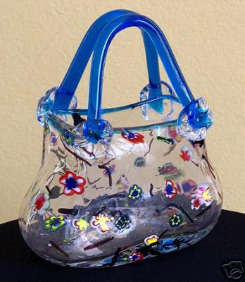 Murano Glass Purse Vase Vase And Cellar Image Avorcor