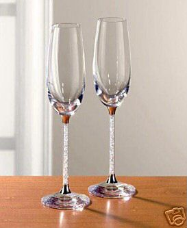 Re Swarovski Champagne Flutes I Bought My Lenox Jubilee With Crystal Stems On Ebay For 80 They Are Discontinued So You Won T Find Them In S