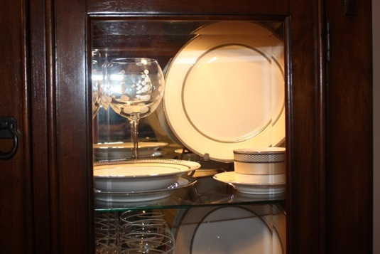 We bought plate stands at BBB & For Newlyweds Only - china cabinet.. displaying china? | LIWeddings