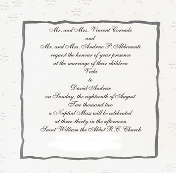 Brides helping brides invitation wording when you want it to say re invitation wording when you want it to say nuptial mass or sacrament of holy matrimony stopboris Images