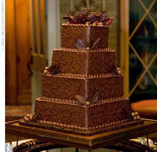 Brides Helping Brides Fudge Cake LIWeddings - Fudge Wedding Cake