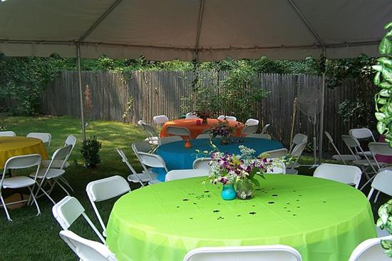 Backyard We Did A Luau Theme It Was 10000000000 Degrees Out But Lot Of Fun Rented The Margarita Man Machine Big Hit And So