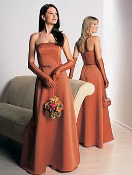 Brides Helping Brides ™ - Burnt orange bridesmaid dresses | LIWeddings