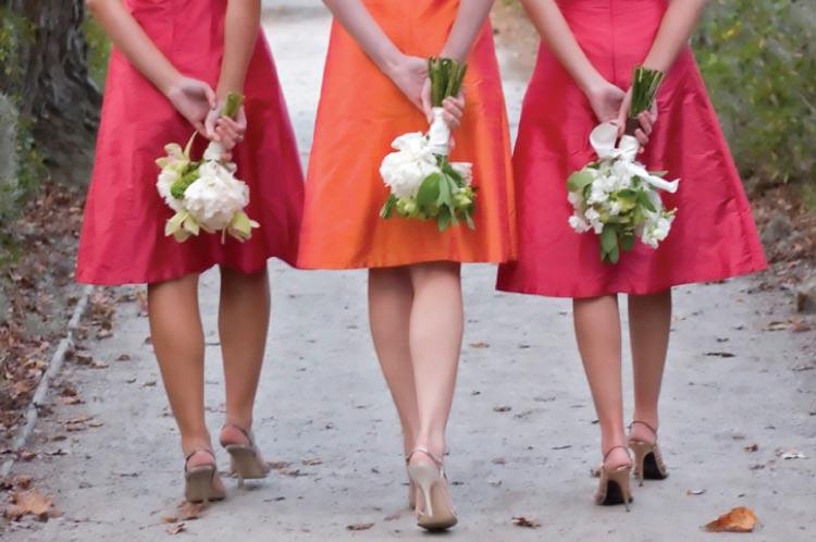 Pink Yellow Red Orange Bridesmaid Dresses Fashion Dresses