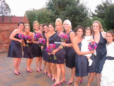 Re Bouquets For Navy Blue Bridesmaid Dresses