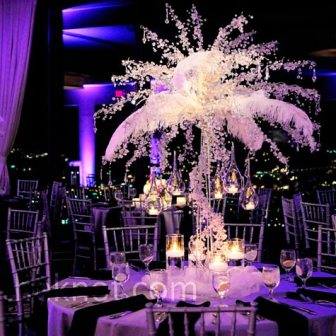 Brides helping brides centerpieces without flowers liweddings and also getting branches instead of the crystal branches they are to much money and just getting hanging crystals and hanging flowers junglespirit Image collections