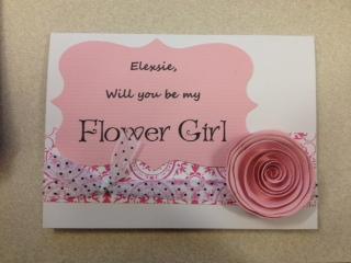 brides helping brides flowergirl invitation liweddings