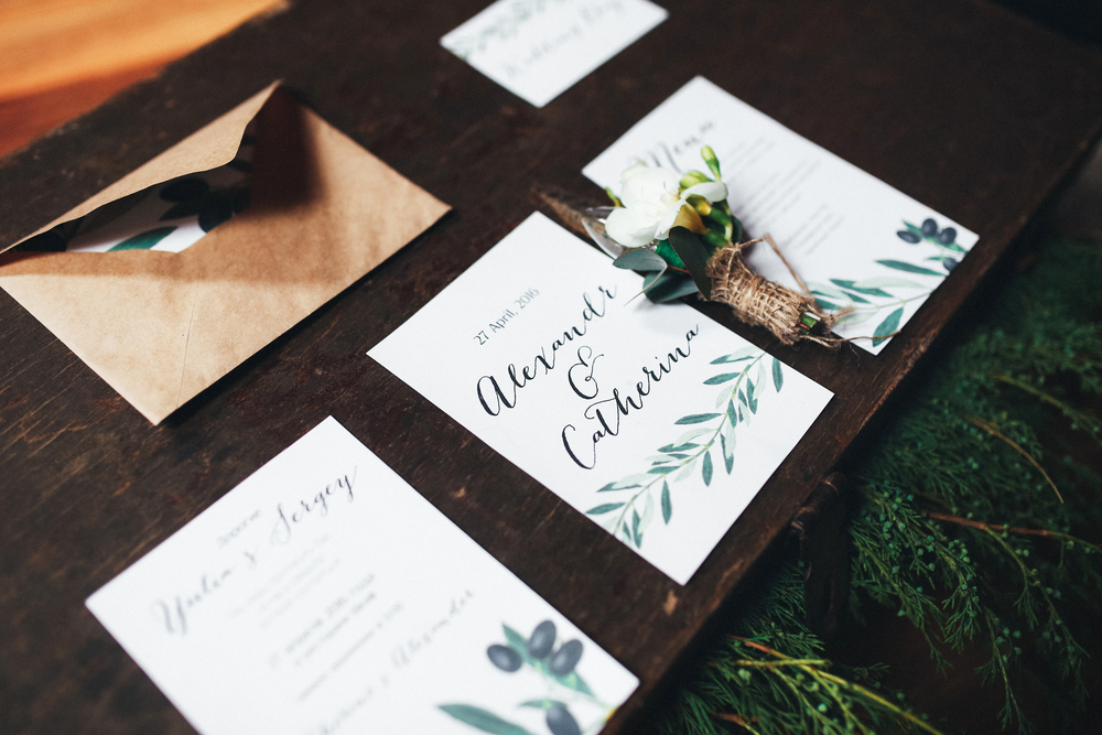 Color Me Married: Making Whimsical Waves with Water Color Stationery