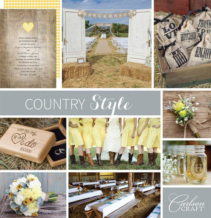Country Style is Perfect for Any Occasion, including Weddings, Birthdays even Sweet 16's