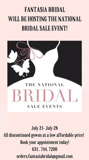 SAVE THE DATE - Fantasia Bridal and The National Bridal Sales Event