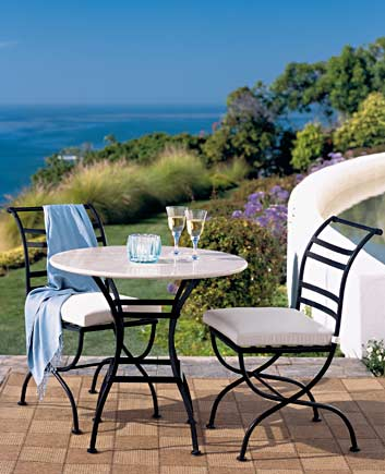 Brides helping brides crate and barrel outdoor for Outdoor furniture quotes
