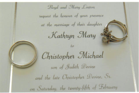 Brides Helping Brides  - Invitation wording/deceased parent...poll ...