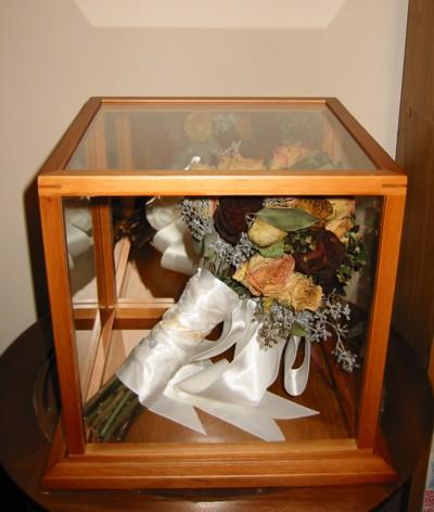 Dried Flower Bouquet Shadow Box