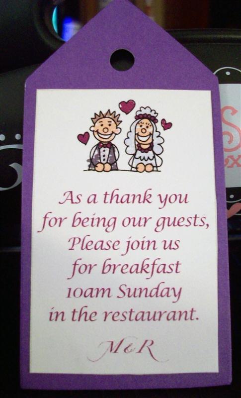 Wedding Gift Bag Poems : Brides Helping Brides - OOT gift bag tag wording LIWeddings